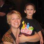 Momma and Jace at Elmo Live
